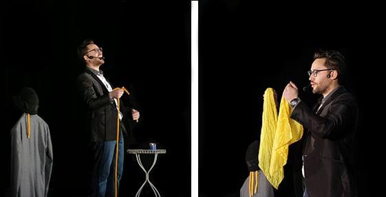 materiel de magie de scène foulard et cordes