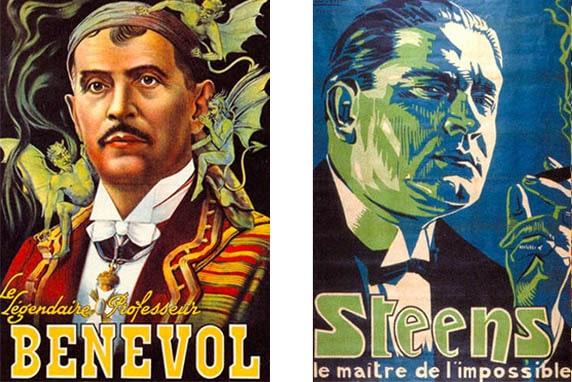 Des expositions d'affiches de spectacles au musée de la magie